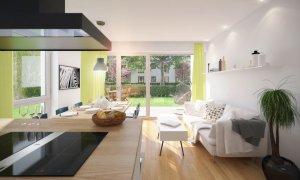 3D Ansicht der 2-Zimmer-Wohnung