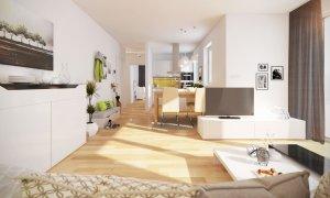 3D Ansicht der 3-Zimmer-Wohnung